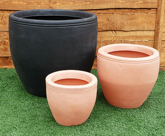 Egg Pot Vases